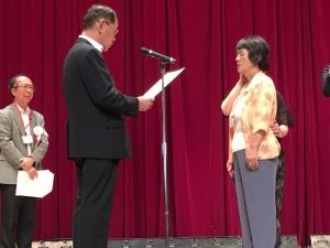 【画像】第8回全国盲ろう者体験文コンクール表彰式